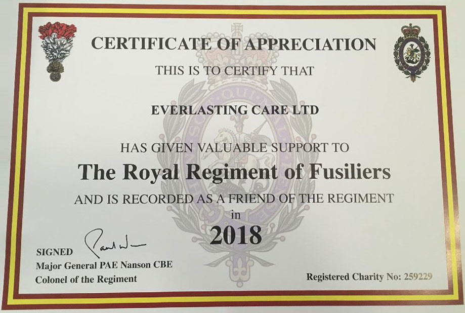 Supporting The Royal Regiment of Fusiliers